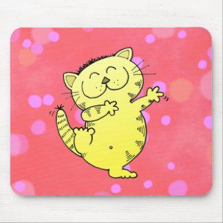 Danza gorda del gato alfombrilla de ratones