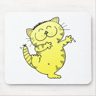 Danza gorda del gato mouse pad