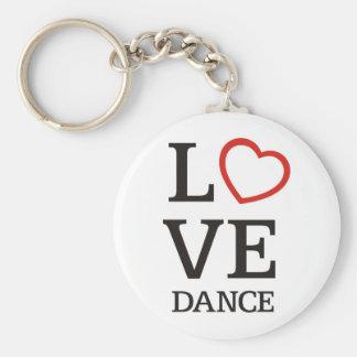 Danza grande del AMOR Llaveros Personalizados