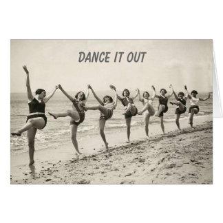 Danza hacia fuera su cumpleaños (tarjeta de
