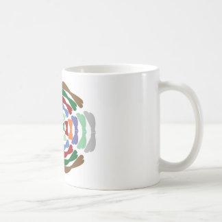 Danza hermosa de la pajarita - disfrute de la aleg taza básica blanca