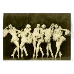 Danza hermosa del ballet de las mujeres del baile  tarjetón