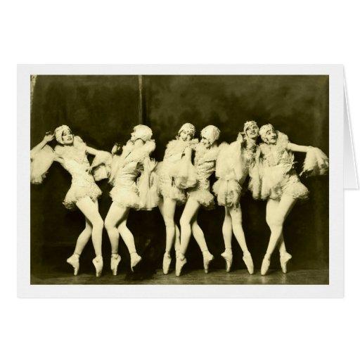 Danza hermosa del ballet de las mujeres del baile  tarjeta de felicitación
