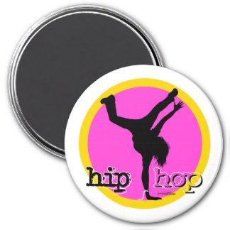 Danza - imán rosado del chica de Hip Hop