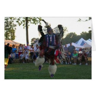 Danza india para la paz tarjeton