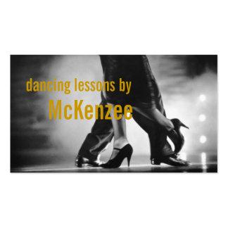 Danza instructor tarjeta de visita de las