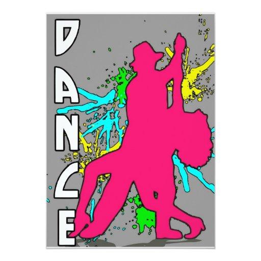 Danza Invitación 12,7 X 17,8 Cm