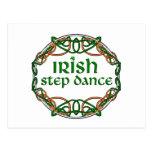 Danza irlandesa del paso postales