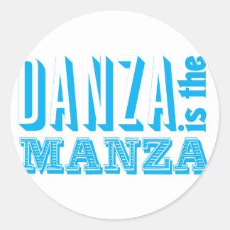 Danza is the Manza Classic Round Sticker