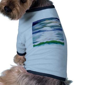 Danza ligera en el arte del océano de CricketDiane Camisa De Perro