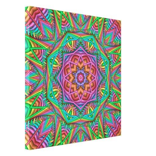 Danza ligera, lona envuelta wallart abstracto impresión en lona