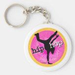 Danza - llavero rosado del chica de Hip Hop