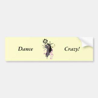 ¡Danza loca! Pegatina De Parachoque