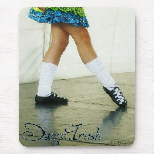 Danza Mousepad azul irlandés Alfombrillas De Ratón