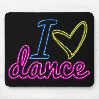 Danza Mousepad del amor del neón I