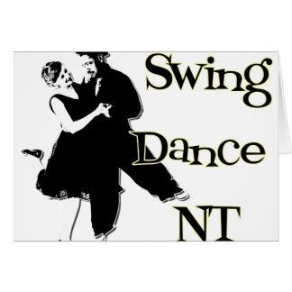Danza NT del oscilación Tarjeta De Felicitación