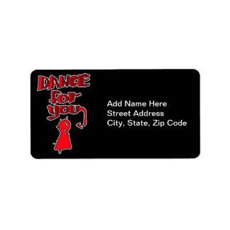 Danza para usted etiquetas de dirección