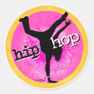 Danza - pegatina del chica de Hip Hop