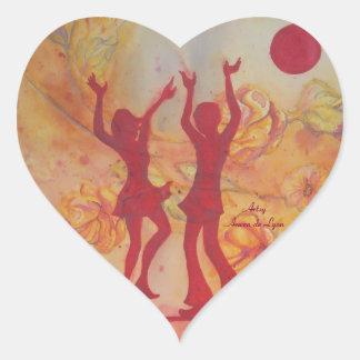 Danza Pegatina En Forma De Corazón