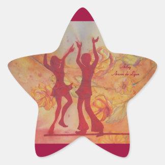 Danza Pegatina En Forma De Estrella
