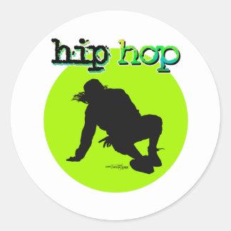 Danza - pegatinas de Hip Hop Etiquetas Redondas
