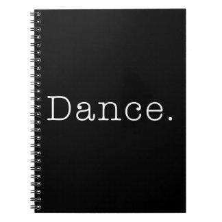 Danza. Plantilla blanco y negro de la cita de la d Libro De Apuntes