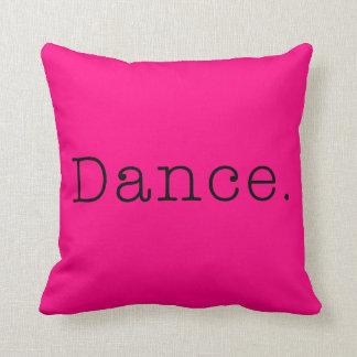 Danza. Plantilla de neón de la cita de la danza de Almohadas