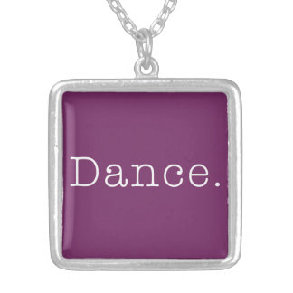 Danza. Plantilla púrpura magenta de la cita de la  Colgante Cuadrado