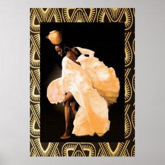 Danza popular africana póster