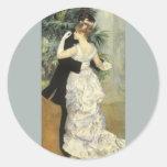 Danza por Renoir, arte de la ciudad del Etiquetas Redondas