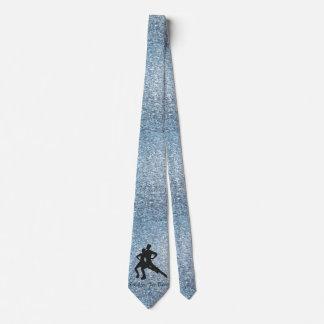 Danza real del hielo de los hombres corbata personalizada