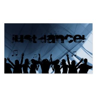 Danza retra azul 2 de la música de la tarjeta de v tarjetas de visita