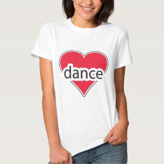 Danza roja del corazón camisas