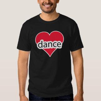 Danza roja del corazón playera