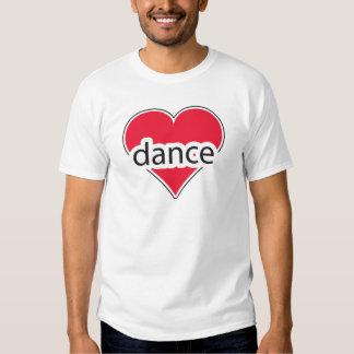 Danza roja del corazón remeras