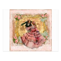 Danza romántica de Versalles Tarjetas Postales