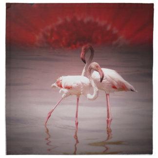Danza rosada del flamenco servilleta