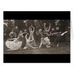 Danza salvaje 1924 de las mujeres tarjeta de felicitación grande