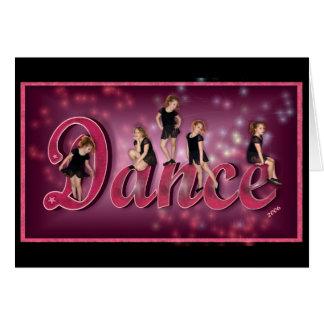 Danza - tarjeta de felicitación