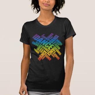 Danza tipográfica espectro camisetas