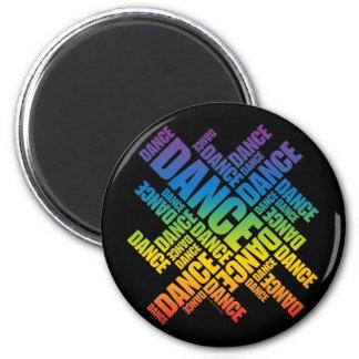 Danza tipográfica (espectro) imán redondo 5 cm