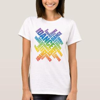 Danza tipográfica (espectro) playera