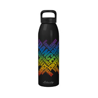 Danza tipográfica espectro botella de agua