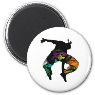 Danza tribal africana imán redondo 5 cm