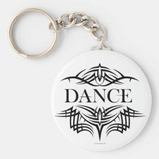Danza tribal (llana) llavero redondo tipo pin