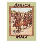 Danza tribal para mujer africana del fútbol de Áfr Postales