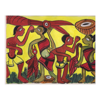 Danza tribal tarjetas postales