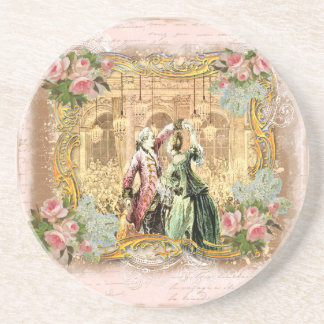 Danza Versalles de Marie Antonieta en rosa Posavasos Para Bebidas