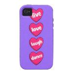 danza viva de la risa del amor iPhone 4/4S carcasa