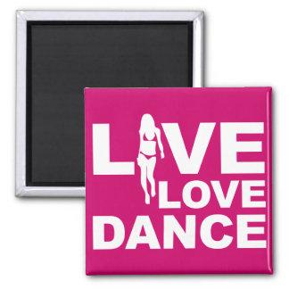 Danza viva del amor imán cuadrado